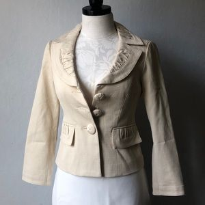 Nanette Lepore Structured Cinched Tailored Blazer